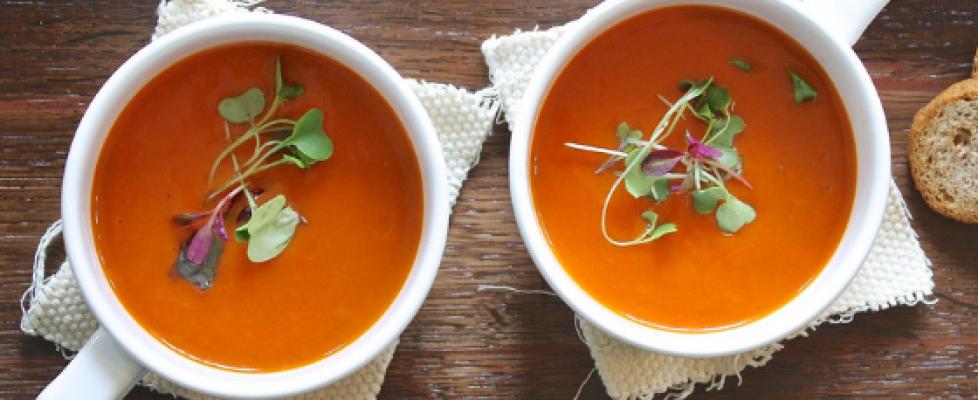 Zupa krem z pomidorów z kaszą jaglaną