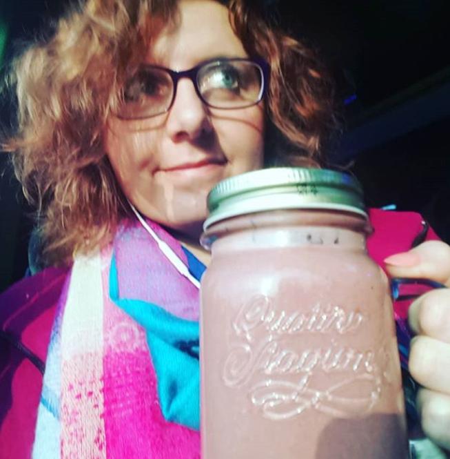 czekoladowo - wiśniowe smoothie